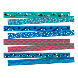 "Barker Creek Sea & Sky Double-Sided 4-Design Trimmers, 2-1/4"" x 36"", Multicolor, Set Of 52"
