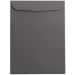 "JAM Paper® Open-End Catalog Envelopes With Gummed Closure, 9"" x 12"", Dark Gray, Pack Of 10"