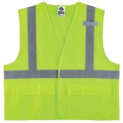 Ergodyne GloWear® Safety Vest, Mesh 8220HL, Type R Class 2, Small/Medium, Lime
