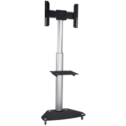 """Mount-It Mobile TV Stand For 37"""" - 70"""" Screens, 43-3/4""""H x 23-1/4""""W x 5-5/8""""D, Black"""