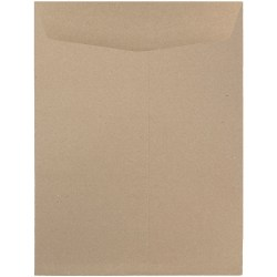 """JAM Paper® Open-End Catalog Envelopes With Gummed Closure, 9"""" x 12"""", 100% Recycled, Brown Kraft, Pack Of 10"""