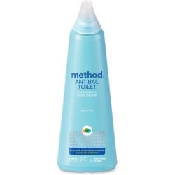 Method Antibacterial Toilet Cleaner - Liquid - 24 fl oz (0.8 quart) - Spearmint Scent - 6 / Carton - Blue
