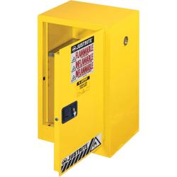 """R3® Safety 1-Door Flammable Liquids Cabinet, 23 1/4"""" x 35"""" x 23 1/4"""", Yellow"""