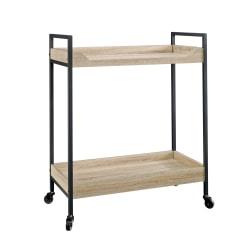 Sauder® North Avenue 2-Shelf Cart, Black/Charter Oak