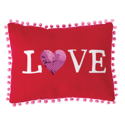 "Amscan Love Valentine's Day Pillows, 9"" x 12"", Red, Set Of 2 Pillows"