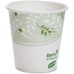 Dixie EcoSmart Viridian Paper Hot Cups - 10 fl oz - 1000 / Carton - Polylactic Acid (PLA) - Hot Drink, Beverage