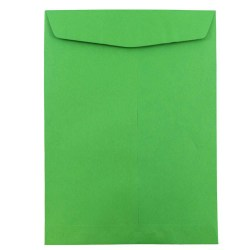 """JAM Paper® Open-End Catalog Envelopes With Gummed Closure, 10"""" x 13"""", 30% Recycled, Green, Pack Of 10"""