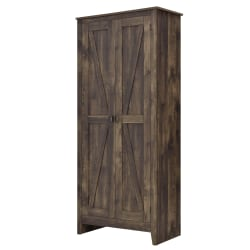 "Ameriwood™ Home Farmington 31 1/2"" Wide Storage Cabinet, 4 Shelves, Rustic Woodgrain"