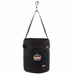 "Ergodyne Arsenal 5970T Swiveling Hook Nylon Hoist Bucket With Top, 15"" x 12-1/2"", Black"