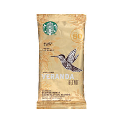Starbucks® Veranda Ground Roast Coffee Single-Serve Packets, Premium Blonde, 2.5 Oz Per Bag, Carton Of 18
