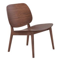 Zuo Modern® Priest Lounge Chairs, Walnut, Set Of 2 Chairs