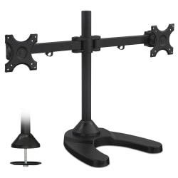 Mount-It! Freestanding Dual Monitor Desk Mount, Black, MI-781