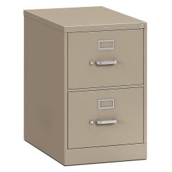 "HON® 310 26-1/2""D Vertical 2-Drawer Letter-Size File Cabinet, Metal, Putty"