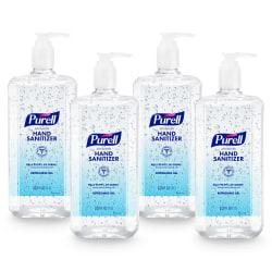 Purell® Advanced Refreshing Gel Hand Sanitizer, 33.8 Oz, Clean Scent, Case Of 4 Bottles