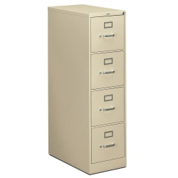 "HON® 310 26-1/2""D Vertical 4-Drawer Letter-Size File Cabinet, Metal, Putty"