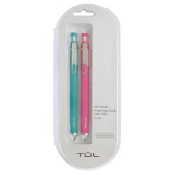 TUL® Mechanical Pencils, 0.7 mm, Teal/Pink Barrels, Pack Of 2 Pencils