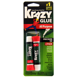 Krazy® Glue Clear Original, .07 Oz Tubes, Pack Of 2