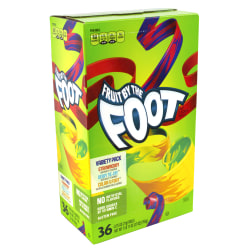 Fruit By The Foot Fruit Snacks, Assorted Flavors, 0.75 Oz, Box Of 36