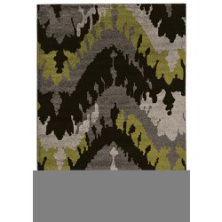 "Linon Honora Area Rug, 60""H x 84""W, Largo Black/Gray"