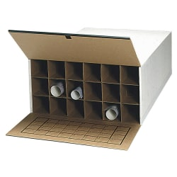 "Safco® Tube-Stor KD Roll File, 11 1/2""H x 23 1/2""W x 37""D, 18 Tube Capacity, White, Carton Of 2"