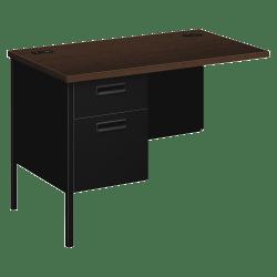 HON® Metro Classic Desks Component (HP3236L), Mocha Laminate, Black Paint