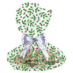 "Amscan Christmas Holly Cellophane Cookie Tray Bags, 18"" x 16"", Pack Of 30 Bags"