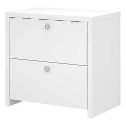 kathy ireland® Office by Bush Business Furniture Echo Lateral File Cabinet, Pure White, Standard Delivery