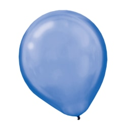 "Amscan Pearlized Latex Balloons, 12"", Royal Blue, Pack Of 72 Balloons, Set Of 2 Packs"