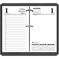 """Doolittle Economy Daily Desk Calendar Refill, 3 1/2"""" x 6"""" , Black/White, January to December 2021"""