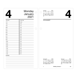 "AT-A-GLANCE® Daily Loose-Leaf Desk Calendar Refill, 4-1/2"" x 8"", January To December 2021, E21050"