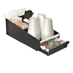 Mind Reader Coffee Condiment and Coffee Pod Organizer, Black