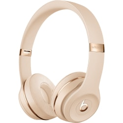 Beats by Dr. Dre Solo3 Wireless Headphones - The Beats Icon Collection - Satin Gold - Stereo - Wireless - Bluetooth - Over-the-head - Binaural - Circumaural - Satin Gold