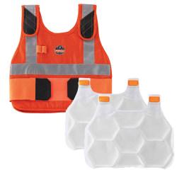 Ergodyne Chill-Its Phase Change Cooling Vest, Premium FR, Small/Medium, Orange, 6215