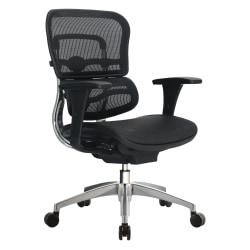 WorkPro® 12000 Series Ergonomic Mesh Mid-Back Chair, Black/Chrome