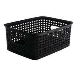 See Jane Work® Plastic Small Weave Bin, Black