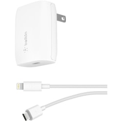 Belkin BOOST↑CHARGE USB-C Wall Charger 18W + USB-C to Lightning Cable - 5 V DC/3.60 A Output