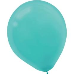 "Amscan Glossy Latex Balloons, 9"", Robin's Egg Blue, 20 Balloons Per Pack, Set Of 4 Packs"