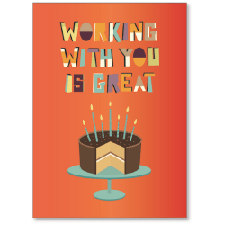 """Viabella Coworker Birthday Card With Envelope, 5"""" x 7"""""""