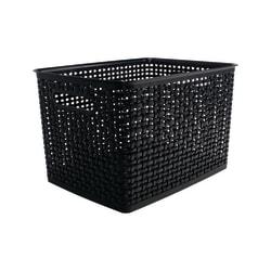 See Jane Work® Plastic Large Weave Bin, Black