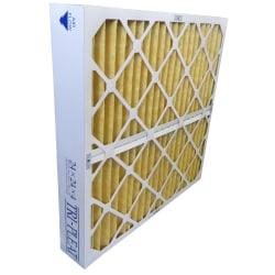 "Tri-Dim Pro HVAC Pleated Air Filters, Merv 11, 12"" x 24"" x 4"", Case Of 3"