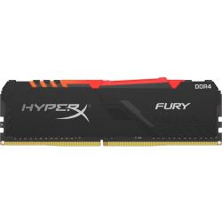 HyperX FURY RGB - DDR4 - module - 8 GB - DIMM 288-pin - 3200 MHz / PC4-25600 - CL16 - 1.35 V - unbuffered - non-ECC - black