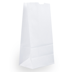 JAM Paper® Medium Kraft Lunch Bags, 9 3/4 x 5 x 3, White, Pack Of 25 Bags