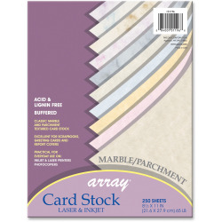 """Pacon® Laser And Inkjet Textured Parchment Card Stock, 8 1/2"""" x 11"""", 65 Lb, Assorted Colors"""