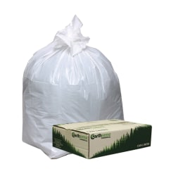 """Webster® EarthSense® 0.7 mil Trash Bags, 13 gal, 24""""H x 32""""W, 75% Recycled, White, 150 Bags"""