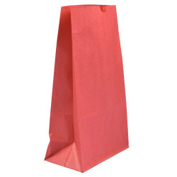 JAM Paper® Kraft Lunch Bags, Large, 11 x 6 x 3 3/4, Red, Pack Of 25 Bags