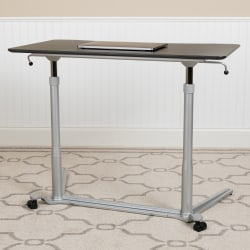 "Flash Furniture 38""W Sit-Down/Stand-Up Ergonomic Computer Desk, Black"