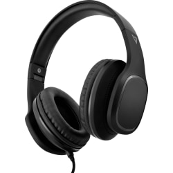V7 Over-Ear Headphones with Microphone - Black - Stereo - Mini-phone (3.5mm) - Wired - 32 Ohm - 20 Hz - 20 kHz - Over-the-head, Over-the-ear - Binaural - 5.91 ft Cable - Noise Canceling - Black