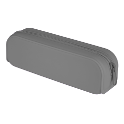 "Office Depot® Brand Tubular Silicone Pencil Pouch, 8"" x 2"", Charcoal"