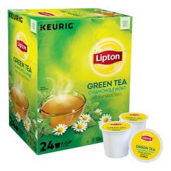 Lipton® Refresh Green Tea Single-Serve K-Cups®, Carton Of 24