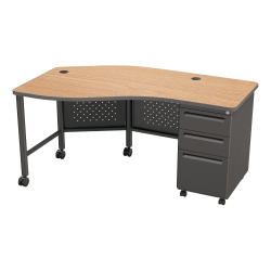Balt Instructor Teacher's Desk II Desk, Oak/Black